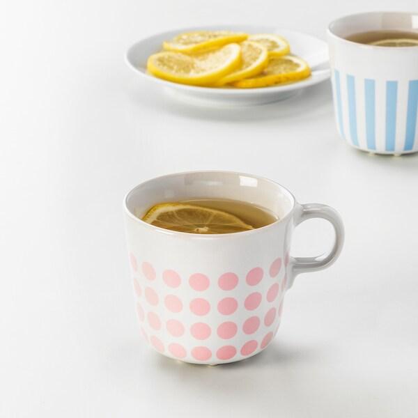 FRAMKALLA Mug, mixed patterns, 7 oz