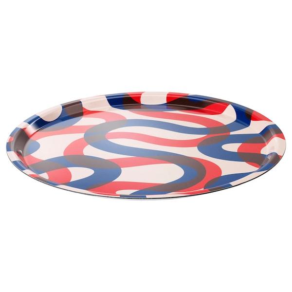 """FRAMKALLA Tray, patterned, 16 7/8 """""""