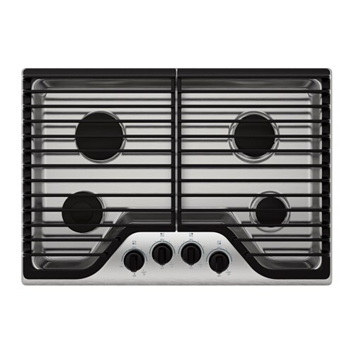 FRAMTID 4 burner gas cooktop, Stainless steel