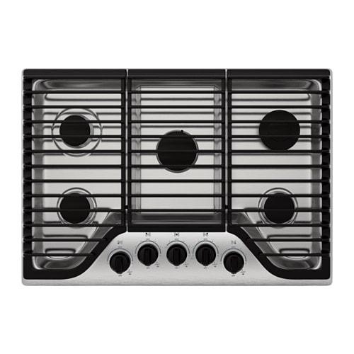 FRAMTID 5 burner gas cooktop, Stainless steel