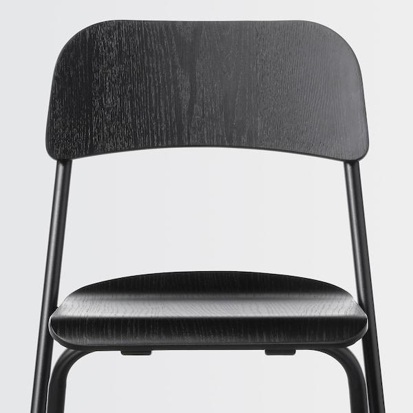 """FRANKLIN Bar stool with backrest, foldable, black/black, 29 1/8 """""""