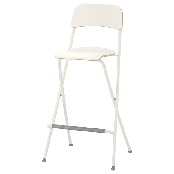 Strange Bar Stool With Backrest Foldable Franklin White White Bralicious Painted Fabric Chair Ideas Braliciousco