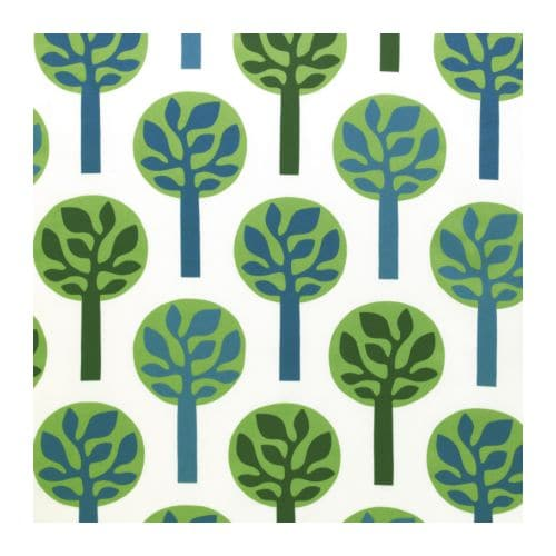 FREDRIKA Fabric IKEA - It's not easy being green - planning my daughter's green bedroom - thediybungalow.com