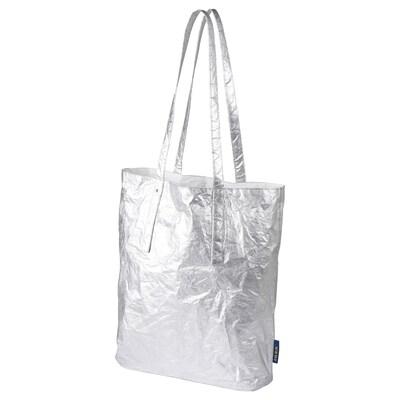 "FREKVENS tote bag medium silver color 11 ¾ "" 4 "" 14 ½ "" 33 lb 4 gallon"