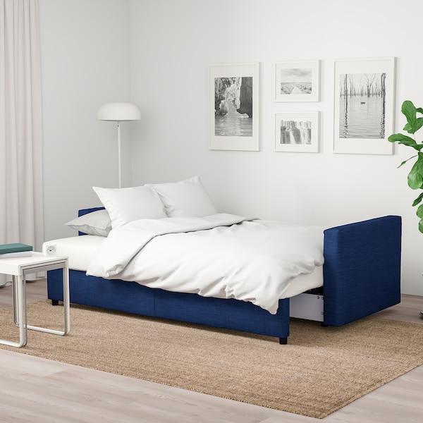 Blauwe Ikea Slaapbank.Friheten Sleeper Sofa Skiftebo Blue Ikea