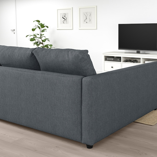 Friheten Sleeper Sectional 3 Seat W Storage Hyllie Dark Gray Ikea