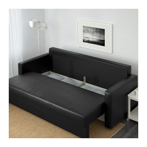 Ikea Friheten Black Leather