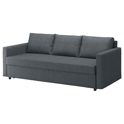 FRIHETEN Sleeper sofa, Hyllie dark gray