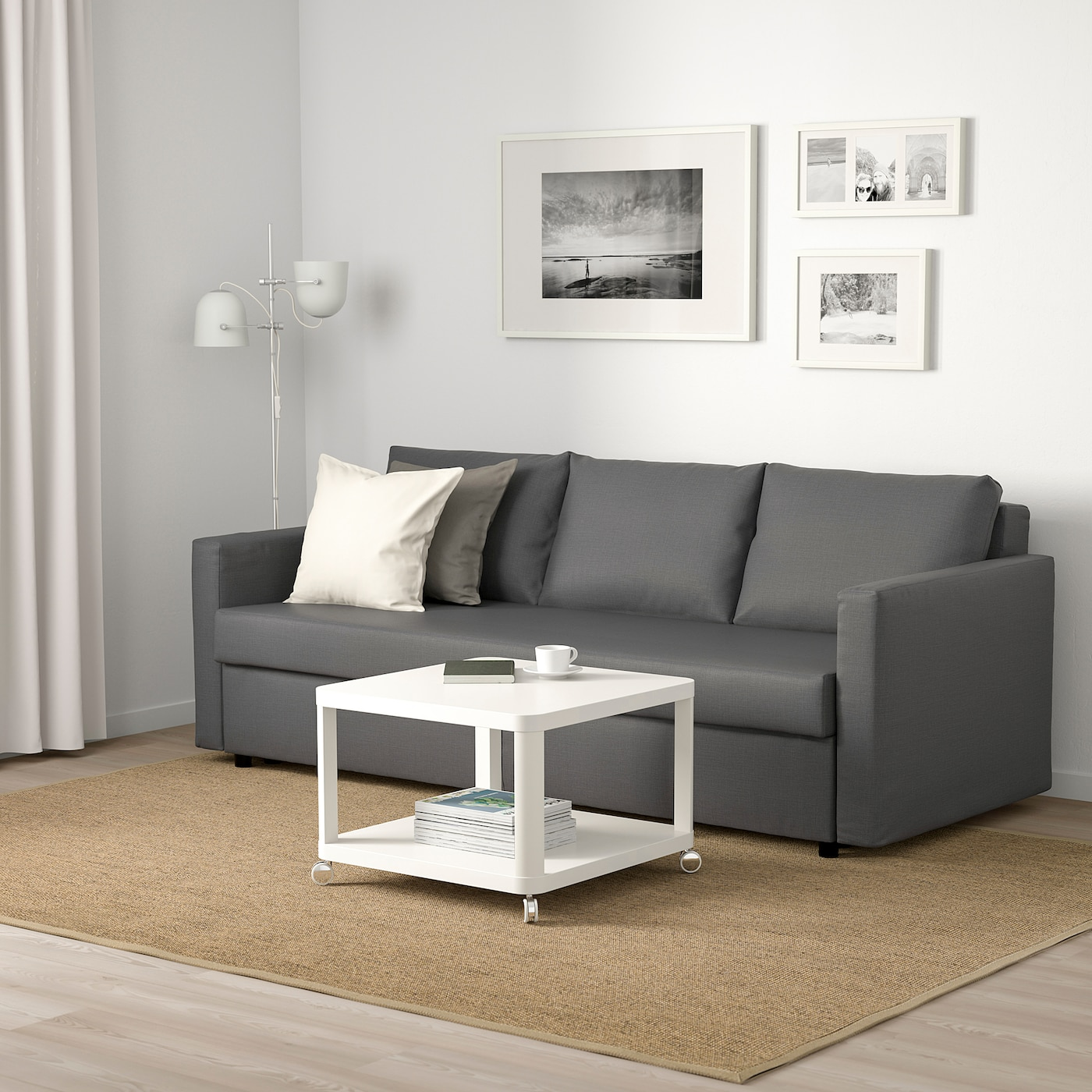 Picture of: Friheten Sleeper Sofa Skiftebo Dark Gray Ikea