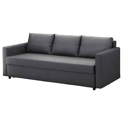 "FRIHETEN sleeper sofa Skiftebo dark gray 88 5/8 "" 41 3/8 "" 32 5/8 "" 24 "" 18 1/8 "" 56 3/4 "" 78 3/8 """