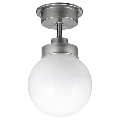 FRIHULT Ceiling lamp, stainless steel color
