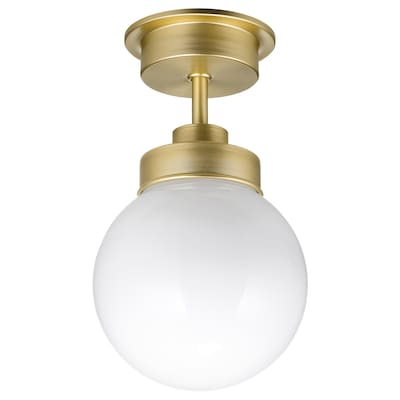 """FRIHULT ceiling lamp brass color 5.3 W 9 7/8 """" 5 7/8 """""""