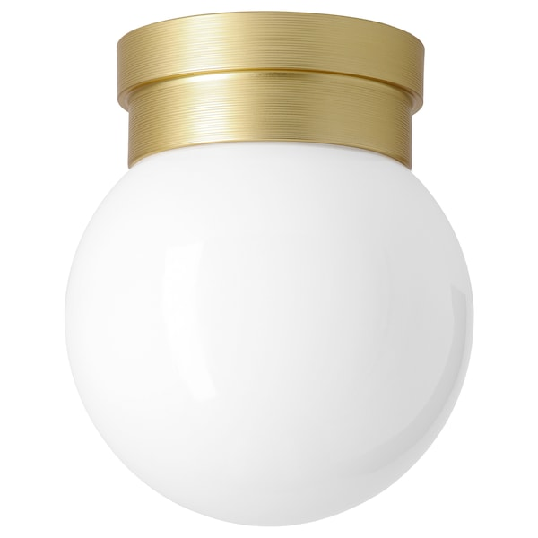 """FRIHULT ceiling/wall lamp brass color 5.3 W 7 1/2 """" 6 1/4 """""""