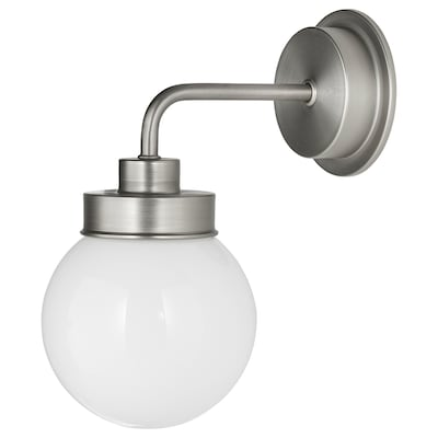 """FRIHULT wall lamp stainless steel color 5.3 W 9 """" 11 """" 5 1/2 """""""