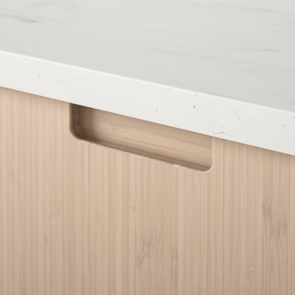 "FRÖJERED Drawer front, light bamboo, 24x15 """