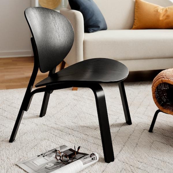FRÖSET Chair, black stained oak veneer