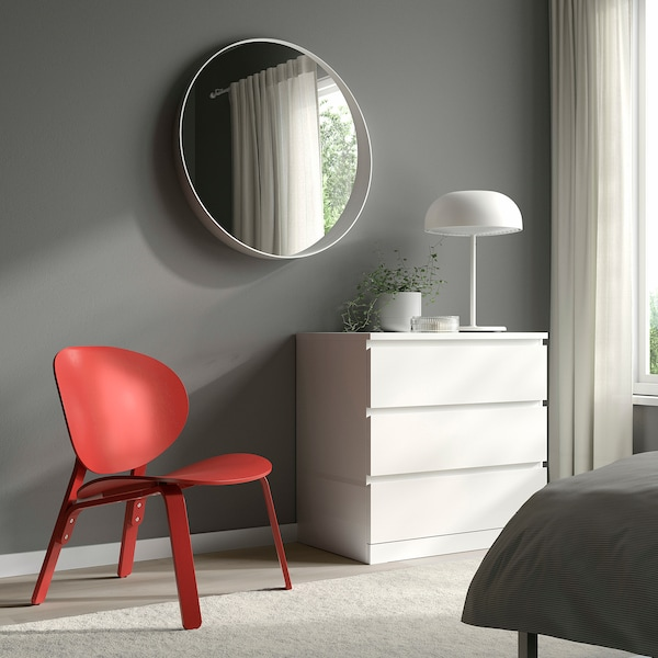 FRÖSET Chair, red stained oak veneer