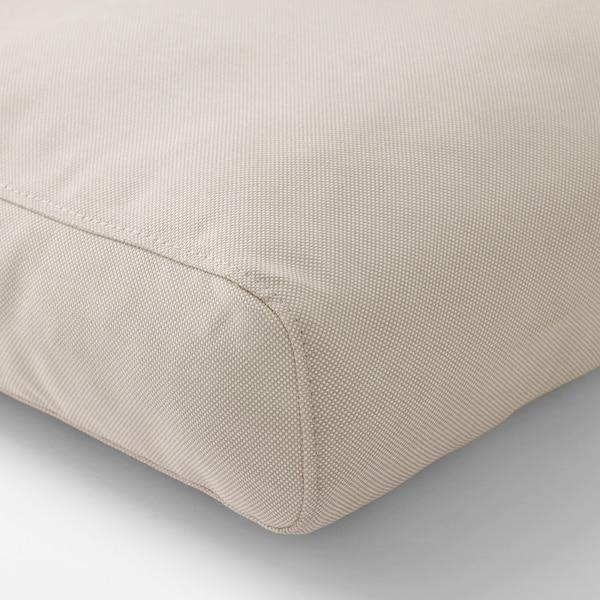 """FRÖSÖN/DUVHOLMEN Back cushion, outdoor, beige, 24 3/8x17 3/8 """""""