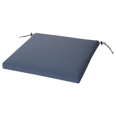 "FRÖSÖN/DUVHOLMEN Chair pad, outdoor, blue, 19 5/8x19 5/8 """