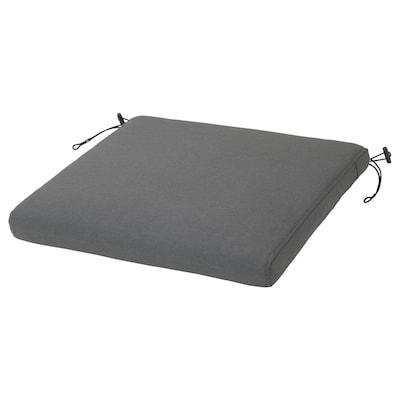 """FRÖSÖN/DUVHOLMEN Chair pad, outdoor, dark gray, 17 3/8x17 3/8 """""""