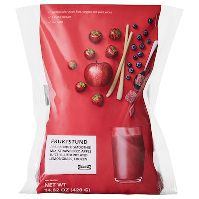 FRUKTSTUND Pre-blended smoothie mix, strawberry with lemongrass/frozen, 1 lb