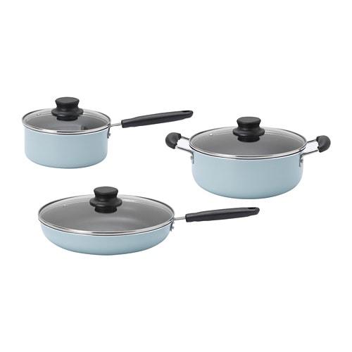 Fryser 6 Piece Cookware Set Ikea