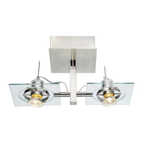 Sale alerts for Ikea FUGA Ceiling/wall lamp, chrome plated, clear glass - Covvet