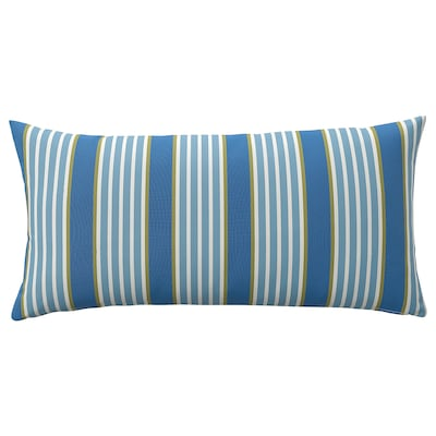 FUNKÖN Back cushion, indoor/outdoor, blue stripe, 12x23 ""