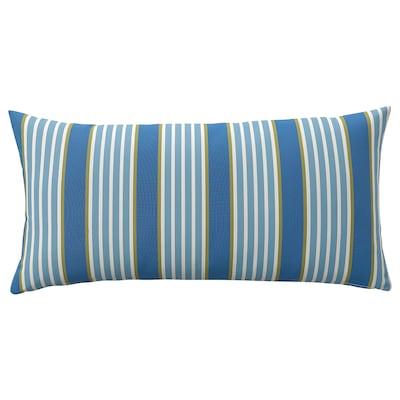 "FUNKÖN Back cushion, indoor/outdoor, blue stripe, 12x23 """