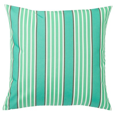 """FUNKÖN Cushion cover, in/outdoor, turquoise/green, 20x20 """""""