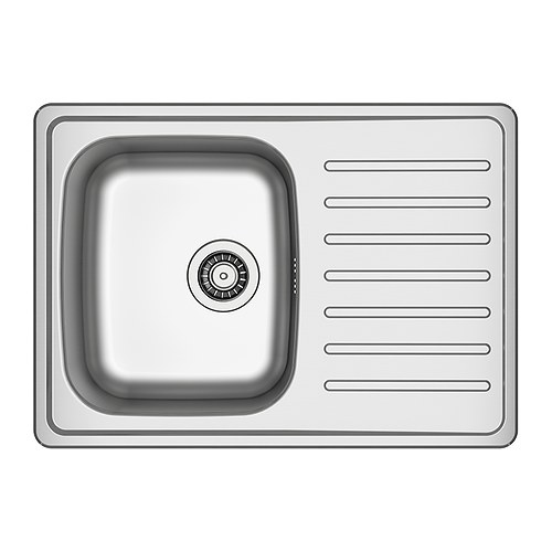 FYNDIG 1 bowl inset sink with drainer IKEA Sink in stainless steel; hygienic, durable, resistant and easy to clean.