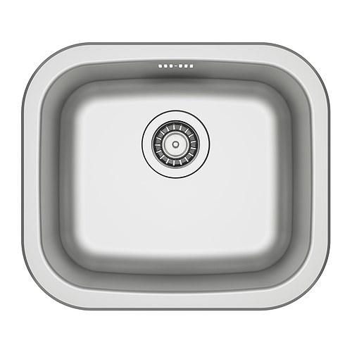 FYNDIG Single-bowl inset sink IKEA Sink in stainless steel, a hygienic ...