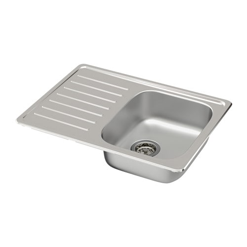 Fyndig Single Bowl Top Mount Sink Ikea