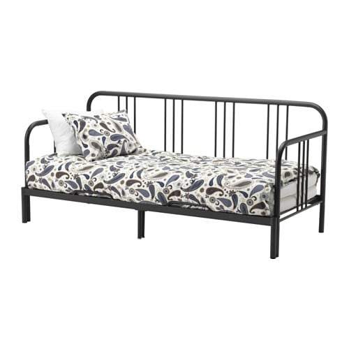 fyresdal daybed frame ikea with some fluffy soft pillows as back support you easily