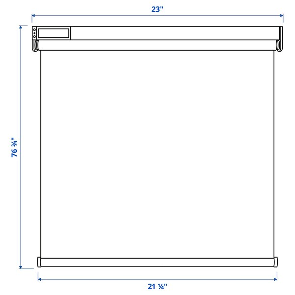 """FYRTUR Blackout roller blind, wireless/battery operated gray, 23x76 ¾ """""""