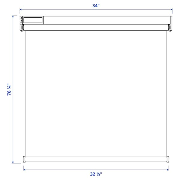 """FYRTUR Blackout roller blind, wireless/battery operated gray, 34x76 ¾ """""""