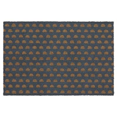 """GÅBENSE Door mat, indoor, half-round/gray, 1 ' 4 """"x2 ' 4 """""""
