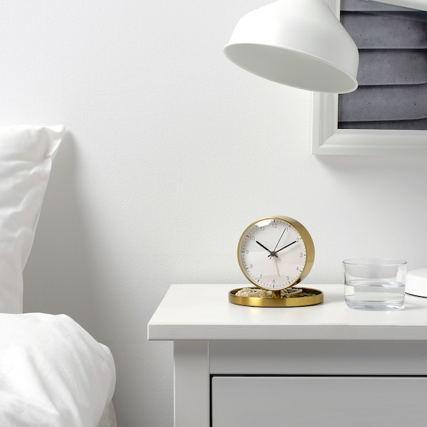 GÄNGA Alarm clock, brass color, 5 ""