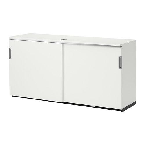 GALANT Cabinet with sliding doors, white white 63x31 1/2