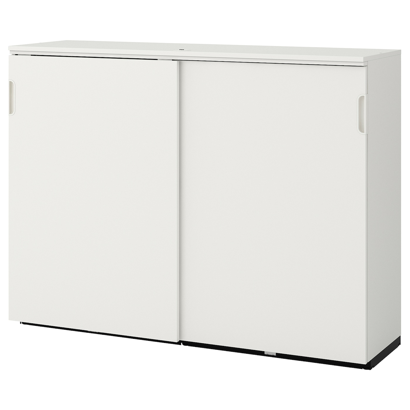 Picture of: Galant Cabinet With Sliding Doors White 63×47 1 4 Ikea