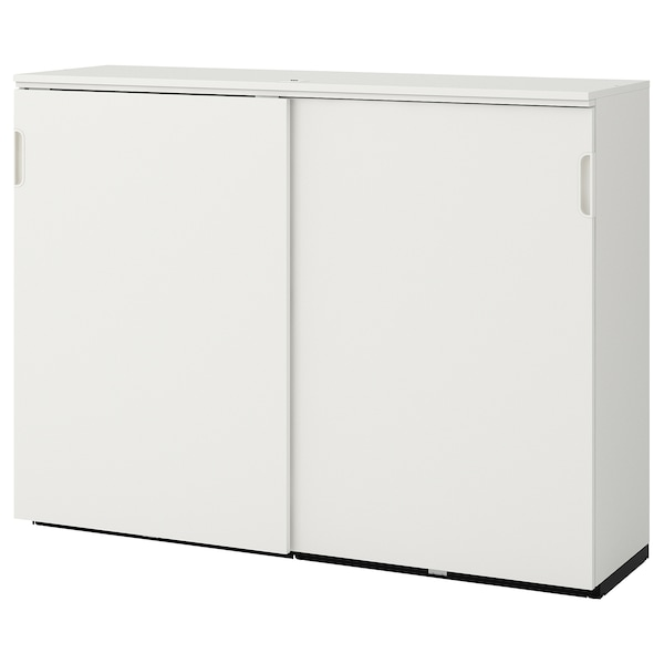 """GALANT cabinet with sliding doors white 63 """" 17 3/4 """" 47 1/4 """" 66 lb"""