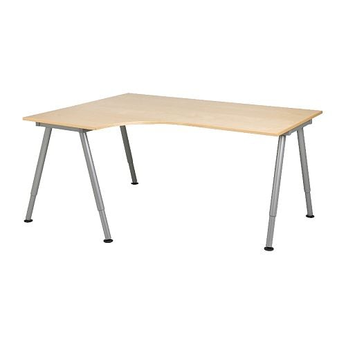 GALANT Corner desk-left IKEA Tested and approved for office use. Fulfils the highest quality standards for stability and durability.