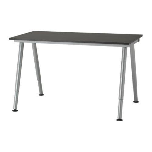 Office desks galant bekant system ikea - Ikea table noire ...
