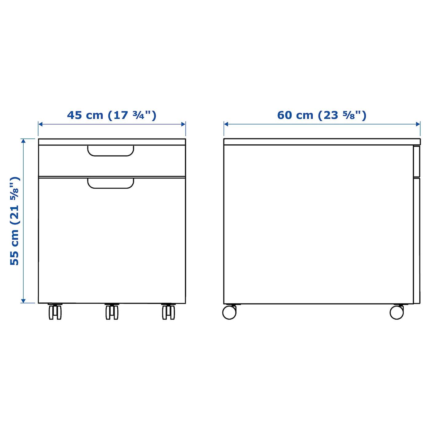 Image of: Galant Drawer Unit Drop File Storage Black Stained Ash Veneer 17 3 4×21 5 8 Ikea