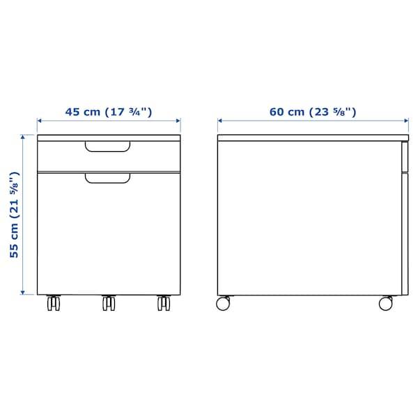 """GALANT Drawer unit/drop file storage, white, 17 3/4x21 5/8 """""""
