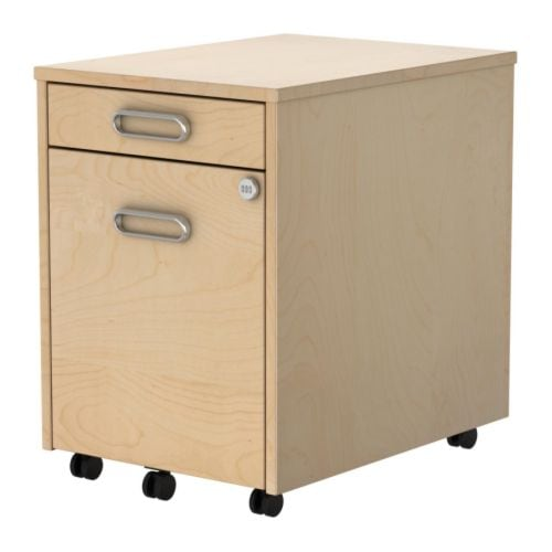 Ikea Mandal Headboard Ideas ~ drawer and a file cabinet actually there are two drawers and then a