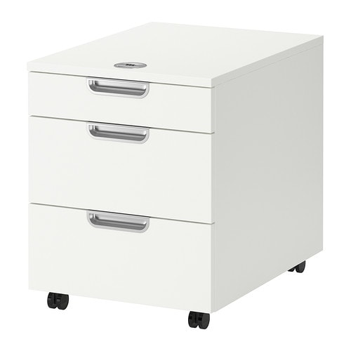 Galant drawer unit on casters white ikea - Cajones de madera ikea ...