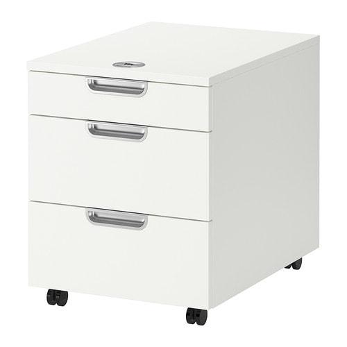 Galant Ikea galant drawer unit on casters white ikea