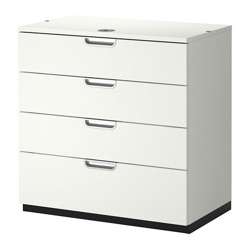 Galant drawer unit white ikea for Bureau blanc ikea