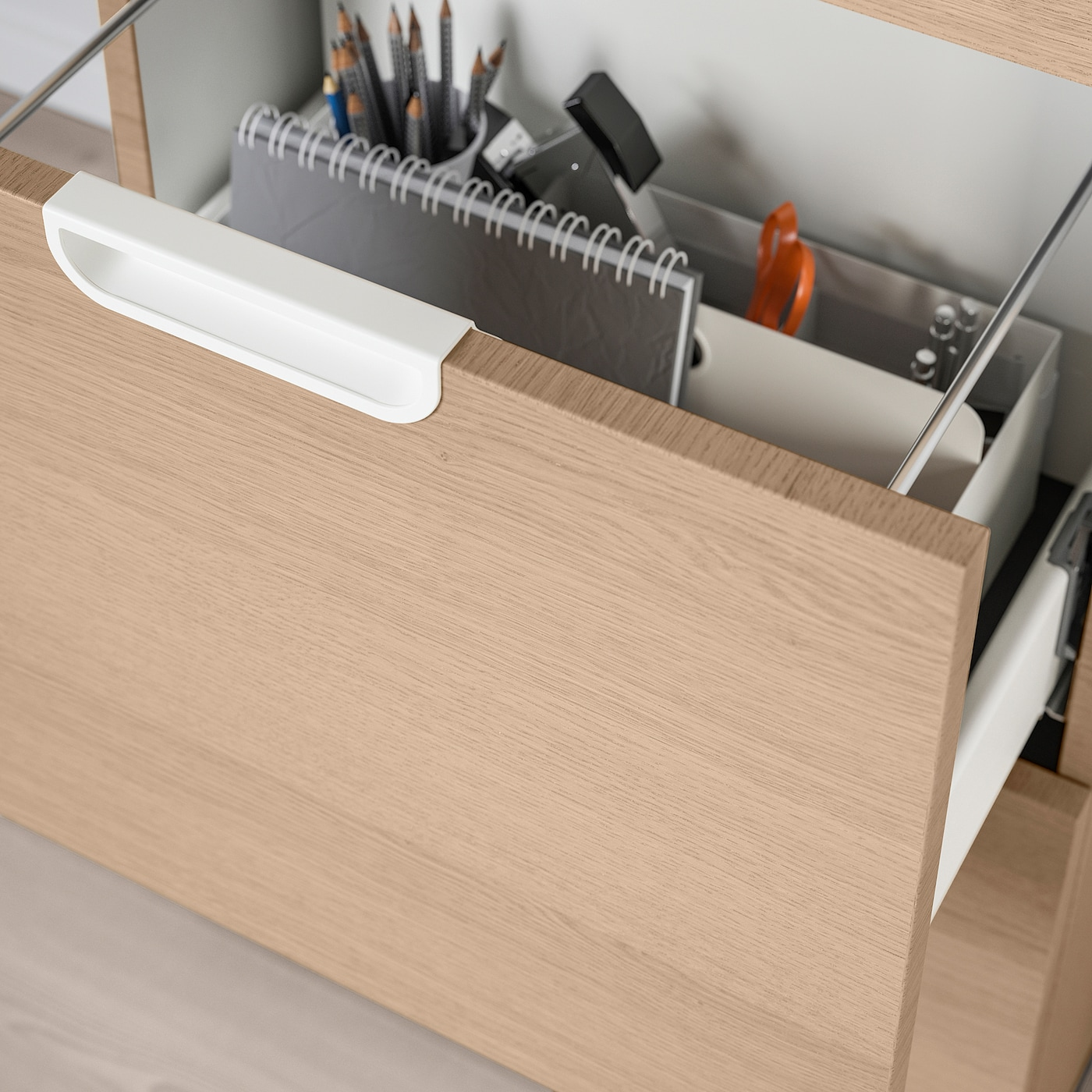 Galant File Cabinet White Stained Oak Veneer 20 1 8x47 1 4 Ikea